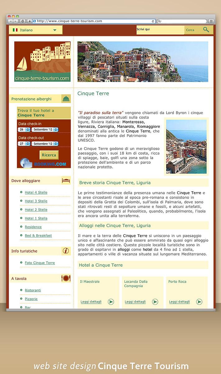 Portal turistic online despre Cinque Terre - Italia