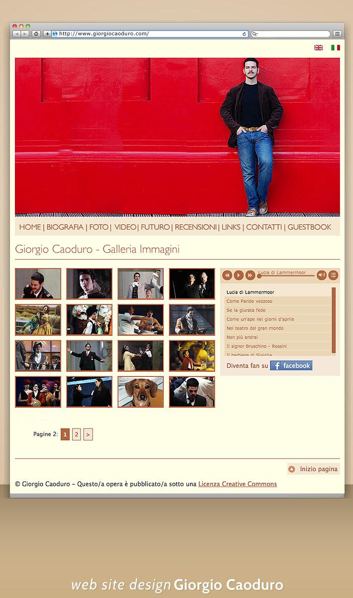 Site web dinamic -  Giorgio Caoduro