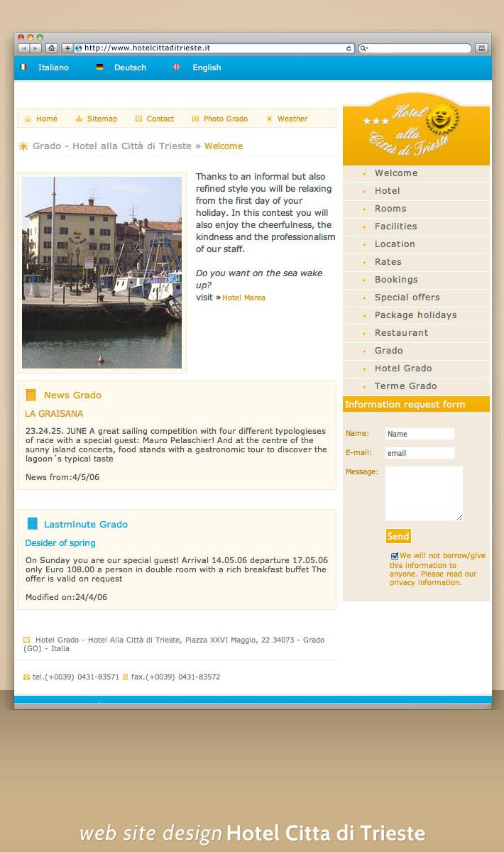 Hotel Citta di Trieste -  Site Web Prezentare