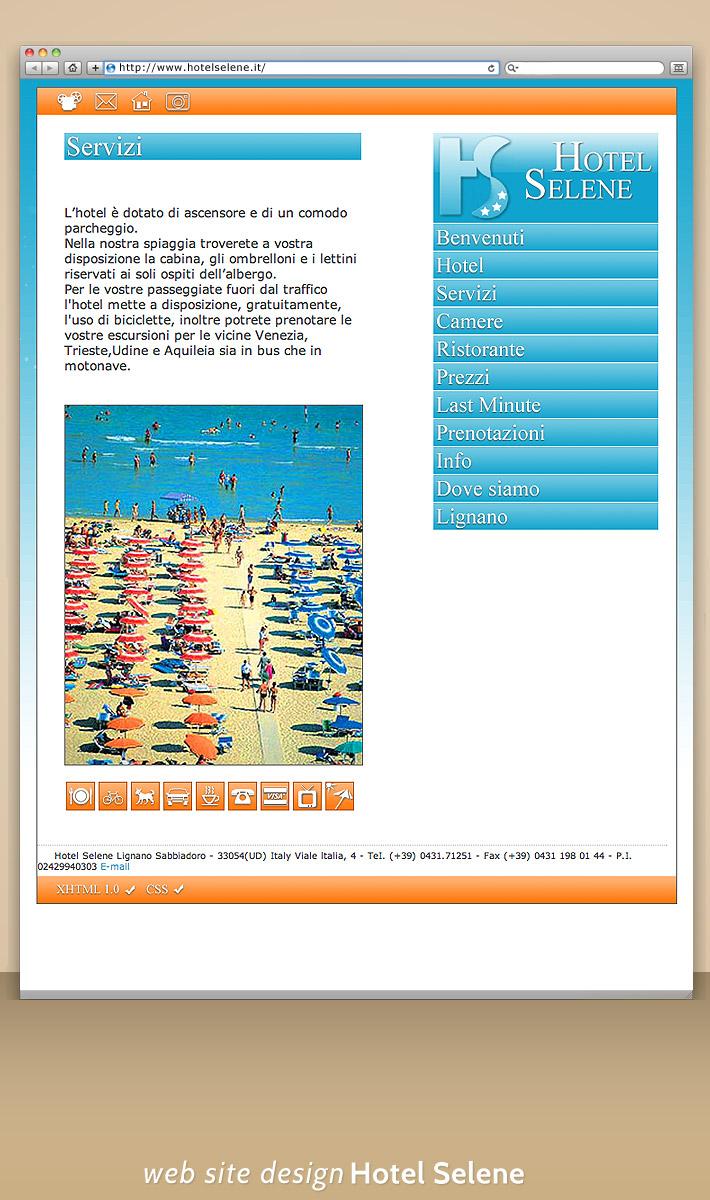 Hotel Selene Website Design