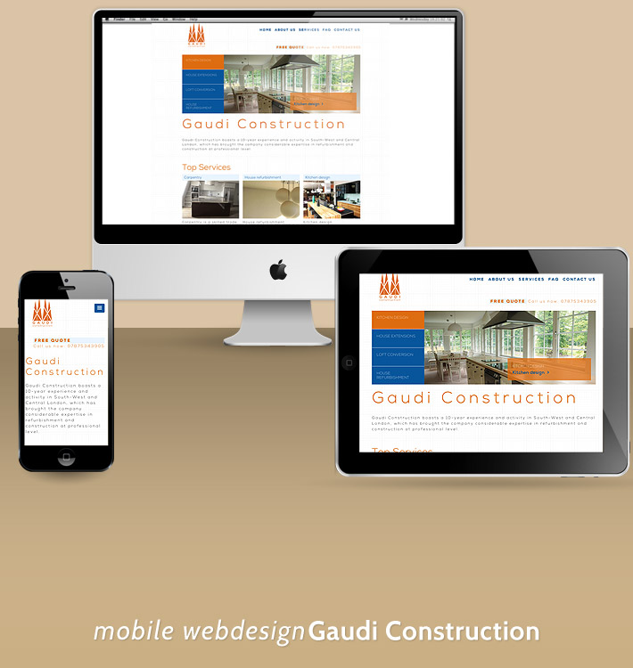 Mobile design Gaudi Construction