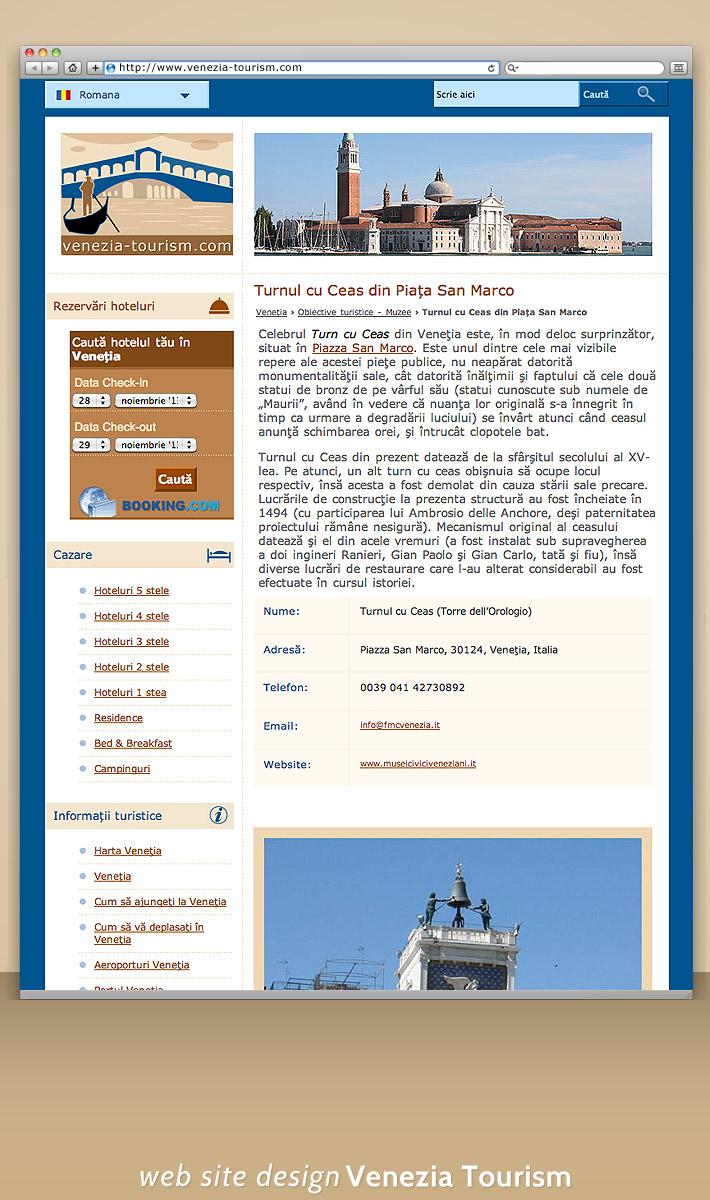 Design ghid turistic Venezia - 8 limbi