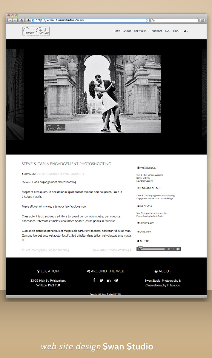 Siteweb mobile London - blog design - responsive Swan Studio