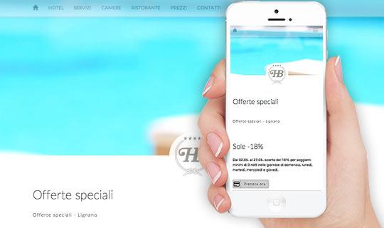 Site web mobile Hotel Bellavista