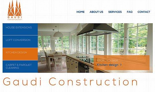 Gaudi Construction site web design